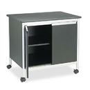 Safco SAF1872BL Deluxe Steel Machine Stand, One-Shelf, 32w X 24-1/2d X 30-1/4h, Black