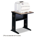 SAFCO PRODUCTS SAF1934 Fax/printer Stand W/reversible Top, 23-1/2w X 28d X 30h, Medium Oak/black