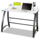 Safco SAF1938TG Xpressions Computer Workstation, 47w X 23d X 37h, Frosted/black