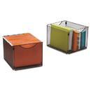 Safco SAF2173BL Onyx Mesh Cube Bins, 12 1/2w X 14d X 10h, Black, 2/pack