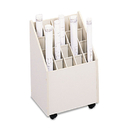 SAFCO PRODUCTS SAF3082 Laminate Mobile Roll Files, 20 Compartments, 15-1/4w X 13-1/4d X 23-1/4h, Putty