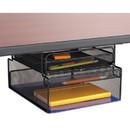 Safco 3244BL Onyx Hanging Organizer w/Drawer, Under Desk Mount, 12 1/3 x 10 x 7 1/4, Black