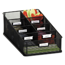 Safco SAF3291BL Onyx Breakroom Organizers, 7 Compartments, 16 X8 1/2x5 1/4, Steel Mesh, Black