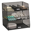 Safco SAF3293BL Onyx Breakroom Organizers, 3 Compartments,14.625x11.75x15, Steel Mesh, Black