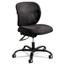 Safco SAF3397BL Vue Intensive Use Mesh Task Chair, Polyester Seat, Black