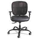 Safco SAF3397BV Vue Intensive Use Mesh Task Chair, Vinyl Seat, Black