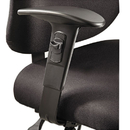 Safco SAF3399BL Height/width-Adjustable T-Pad Arms For Alday 24/7 Task Chair, Black, 1 Pair