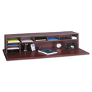 Safco SAF3671MH Low-Profile Desktop Organizer, 10 Sections, 57 1/2 X 12 X 12, Mahogany