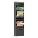 SAFCO PRODUCTS SAF4321BL Steel Magazine Rack, 11 Compartments, 10w X 4d X 36-1/4h, Black