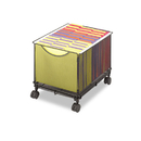 Safco SAF5211BL Onyx Mesh Mobile File Cube, 13-1/2w X 16-3/4d X 13h, Black