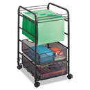 Safco SAF5215BL Onyx Mesh Open Mobile File, Two-Drawers, 15-3/4w X 17d X 27h, Black