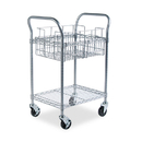 Safco SAF5235GR Wire Mail Cart, 600-Lb Cap, 18-3/4w X 26-3/4d X 38-1/2h, Metallic Gray