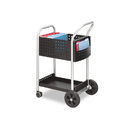 Safco SAF5238BL Scoot Mail Cart, One-Shelf, 22w X 27d X 40-1/2h, Black/silver