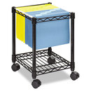 Safco SAF5277BL Compact Mobile Wire File Cart, One-Shelf, 15-1/2w X 14d X 19-3/4h, Black