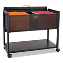 Safco SAF5353BL Locking Top Mobile Tub File, One-Shelf, 33-1/4w X 17d X 27h, Black