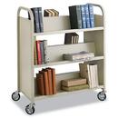 Safco SAF5357SA Steel Book Cart, Six-Shelf, 36w X 18-1/2d X 43-1/2h, Sand