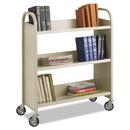 Safco SAF5358SA Steel Book Cart, Three-Shelf, 36w X 14-1/2d X 43-1/2h, Sand