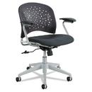 Safco SAF6803BL Reve Series Task Chair, Round Plastic Back, Polyester Seat, Black Seat/back
