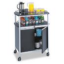 SAFCO PRODUCTS SAF8964BL Mobile Beverage Cart, 33-1/2w X 21-3/4d X 43h, Black