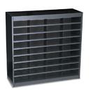 SAFCO PRODUCTS SAF9221BLR Steel/fiberboard E-Z Stor Sorter, 36 Sections, 37 1/2 X 12 3/4 X 36 1/2, Black