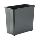SAFCO PRODUCTS SAF9616BL Rectangular Wastebasket, Steel, 27.5qt, Black