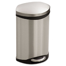 Safco SAF9901SS Step-On Receptacle, 3gal, Stainless Steel