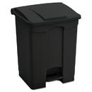 Safco SAF9923BL Large Capacity Plastic Step-On Receptacle, 23gal, Black