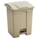 Safco SAF9923TN Large Capacity Plastic Step-On Receptacle, 23gal, Tan