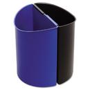Safco SAF9927BB Desk-Side Recycling Receptacle, 3gal, Black And Blue