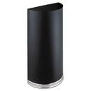 Safco SAF9940BL Half-Round Receptacle, Half-Round, Steel, 12.5gal, Black