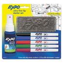 EXPO 1884310 Low-Odor Dry Erase Marker Starter Set, Extra-Fine Needle Tip, Assorted Colors, 5/Set