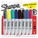 Sharpie SAN1927322 Permanent Marker, 5.3mm Chisel Tip, Assorted Fashion, 8/pack