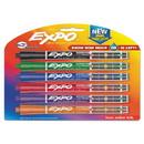EXPO 1946767 Ink Indicator Dry Erase Marker, Broad Chisel Tip, Assorted Colors, 6/Set