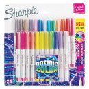 Sharpie 2033572 Cosmic Color Permanent Markers, Extra-Fine Needle Tip, Assorted Colors, 24/Pack