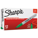 Sharpie SAN30004 Fine Point Permanent Marker, Green, Dozen