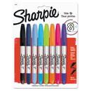 Sharpie 33861PP Twin-Tip Permanent Marker, Fine/Extra-Fine Bullet Tip, Assorted Colors, 8/Set