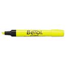 Berol SAN64324 4009 Highlighter, Chisel Tip, Fluorescent Yellow, Dozen