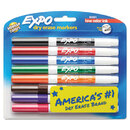 EXPO SAN86601 Low-Odor Dry-Erase Marker, Fine Point, Assorted, 8/set