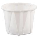 SOLO Cup SCC075 Paper Portion Cups, .75oz, White, 250/bag, 20 Bags/carton