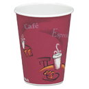 SOLO Cup SCC378SIPK Bistro Design Hot Drink Cups, Paper, 8oz, Maroon, 50/pack