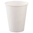 SOLO Cup SCC378W2050 Single-Sided Poly Paper Hot Cups, 8oz, White, 50/bag, 20 Bags/carton