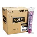 Dart 412SIN-0041 Solo Bistro Design Hot Drink Cups, Paper, 12oz, Maroon, 50/Bag, 20 Bags/Carton