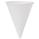 SOLO Cup SCC4BRCT Cone Water Cups, Cold, Paper, 4oz, White, 200/bag, 25 Bags/carton