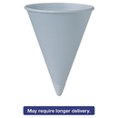 SOLO Cup SCC6RBU Bare Treated Paper Cone Water Cups, 6 Oz, White, 200/sleeve, 25 Sleeves/carton