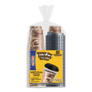 Dart SCCFSX120029PK Trophy Plus Dual Temperature Insulated Cups and Lids Combo Pack, 12 oz, Brown, 50 Cups and Lids/Pack