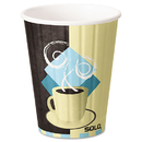 SOLO Cup SCCIC12J7534CT Duo Shield Insulated Paper Hot Cups, 12oz, Tuscan, Chocolate/blue/beige, 600/ct