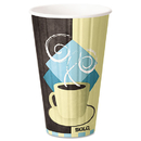 SOLO Cup SCCIC16J7534CT Duo Shield Insulated Paper Hot Cups, 16 Oz, Tuscan Chocolate/blue/beige, 525/ct