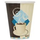 SOLO Cup SCCIC8J7534CT Duo Shield Insulated Paper Hot Cups, 8oz, Tuscan, Chocolate/blue/beige, 1000/ct