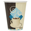 SOLO Cup SCCIC8J7534PK Duo Shield Insulated Paper Hot Cups, 8oz, Tuscan, Chocolate/blue/beige, 50/pk