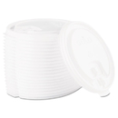 SOLO Cup SCCLB3161 Lift Back & Lock Tab Cup Lids For Foam Cups, 16oz, White, 1000/carton
